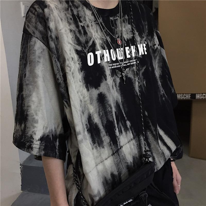 Korean women t-shirt stranger things top Short sleeve dropshipping clothes vintage streetwear punk print Casual Hip Hop Clothing(China)