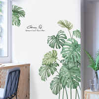 1pcs 60*90cm DIY Tropical Beach Palm Leaves Wall Sticker Modern Art Vinyl Mural Wall Stickers For Kids Rooms living room Decal