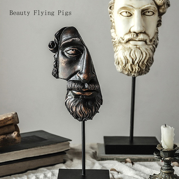 Abstract Statues Sculpture Art Crafts Modern Human Meditators Character Resin Figurine Lady Face Home Decorative Christmas gift