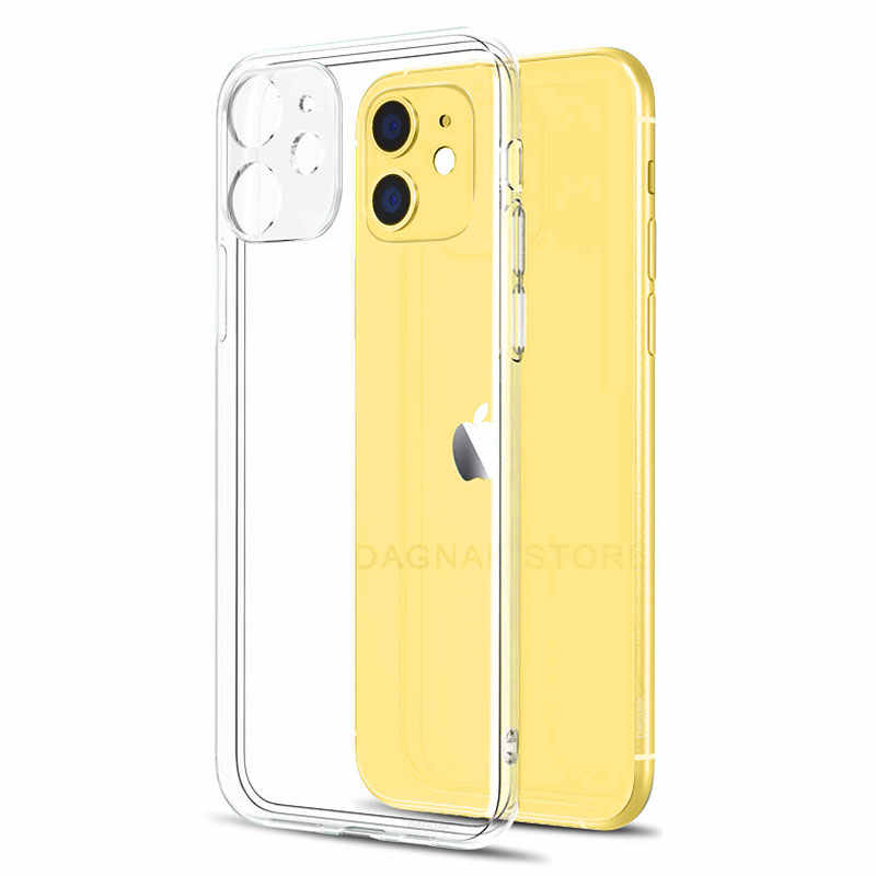 Lens Bescherming Clear Telefoon Case Voor Iphone 11 7 Case Silicone Soft Cover Voor Iphone 11 Pro Xs Max X 8 7 6S Plus 5 Se 11 Xr Case