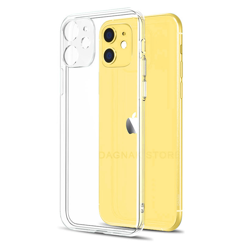 Lens Protection Clear Phone Case For iPhone 11 7 Case Silicone Soft Cover For iPhone 11 Pro XS Max X 8 7 6s Plus 5 SE 11 XR Case(China)