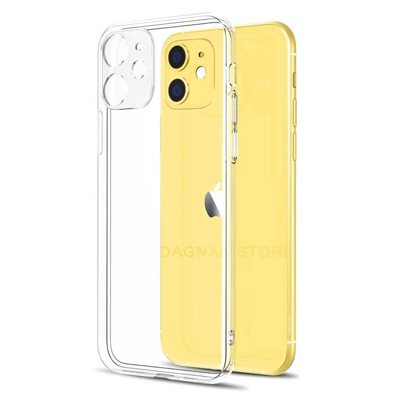 Funda de silicona suave para iPhone, funda protectora transparente para iPhone 11, 7, 11 Pro, XS, Max, X, 8, 7, 6s Plus, 5, SE, 11, XR