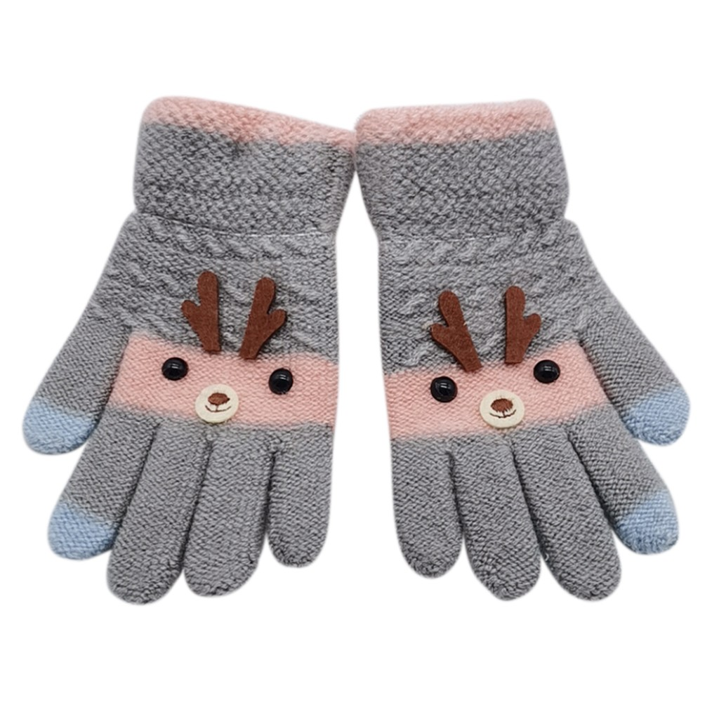 Children Baby Gloves 2018 Fashion Baby Girls Boys Unisex Winter Cartoon Patchwork Keep Warm Kids Mittens Gloves handschoenen