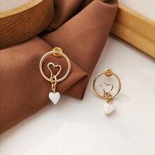 Simples geométrica circular oco brincos brincos de orelha pequeno e puro e fresco temperamento brincos feminino amor jóias presentes