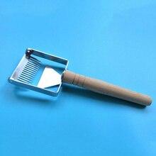Нержавеющая сталь пчелиный улей Uncapping вилка для меда Скребок Лопата пчеловодство инструмент AI88