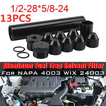 13 sztuk zestaw 6 cali 1 2-28 5 8-24 filtr paliwa samochodowego do NAPA 4003 WIX 24003 rozpuszczalnika odłowu przy zastosowaniu pułapek tytanu akcesoria samochodowe stylizacji tanie i dobre opinie 27mm 150mm 62621643 6061-T6 Aluminum 7075 Aircraft Grade Aluminum 0 16KG For NAPA 4003 WIX 24003 FUEL FILTER 64645152 MX196880
