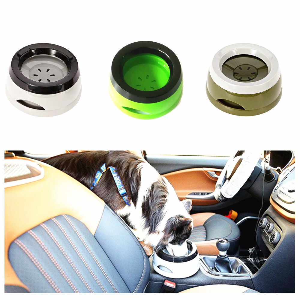 QQQPET Road Refresher Car Dog Water Bowl Road Refresher No Spill Dog Water Bowl Creative Buoyancy Vehicle Pet Water Bowl