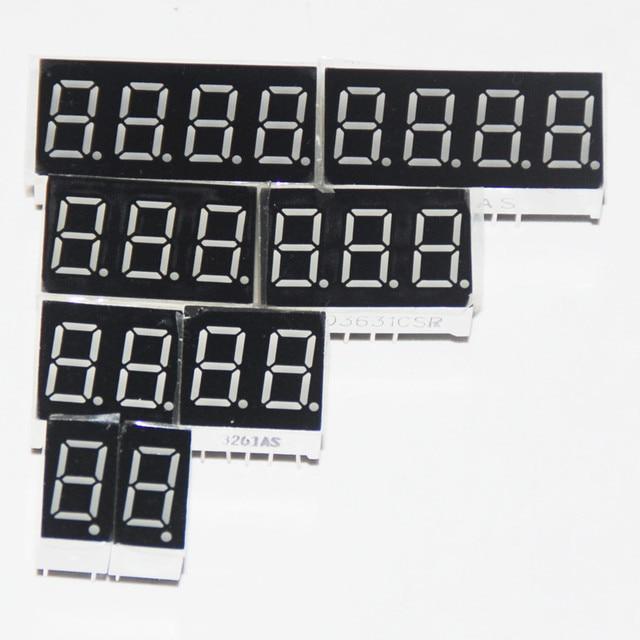 8 Chiếc LED 7 Đoạn Màn Hình Hiển Thị 0.36 Inch 1 / 2 / 3/ 4 Bit 2 Chiếc Mỗi Phổ Biến cực Âm/Anode Kỹ Thuật Số Ống 7 Phân Màn Hình Hiển Thị LED