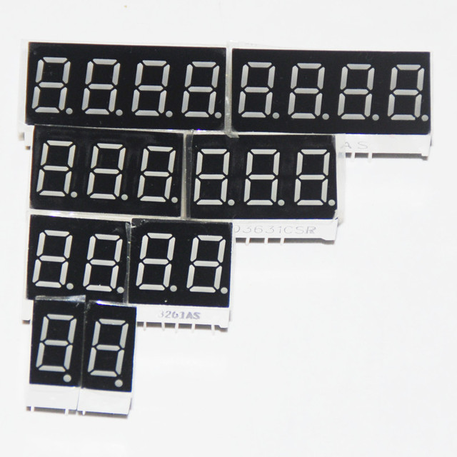 8pcs 7 מגזר LED תצוגה 0.36 אינץ 1 / 2 / 3/ 4 קצת 2pcs כל נפוץ קתודה/האנודה צינור דיגיטלי 7 מגזר LED תצוגה