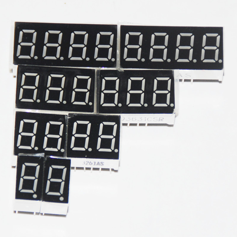 8pcs 7 Segment LED Display 0.36 Inch 1 / 2 / 3/ 4 Bit 2pcs Each Common Cathode / Anode Digital Tube 7 Segment LED Display