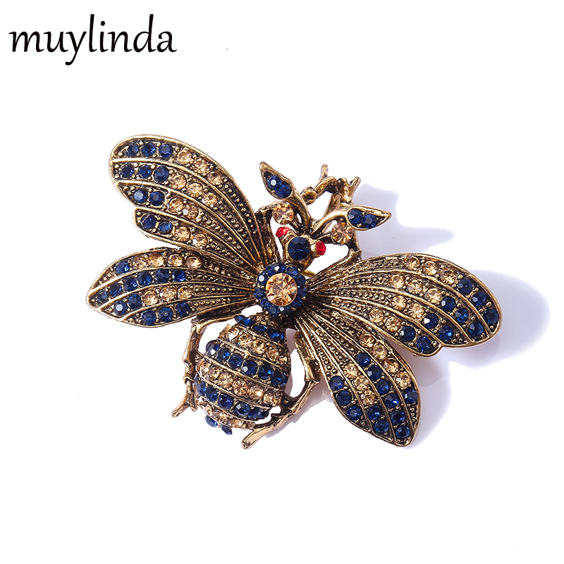 Muylinda Insect Brooches For Women Men Vintage Metal Pin Scarf Clip Bugs Enamal Pin Clothes Accessories
