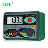 Probador de resistencia DUOYI DY4100 probador Digital de tierra instrumento de resistencia a tierra megohmetro 0-2000 Ohm medidor de mayor precisión