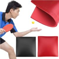 Table Tennis Rubber Ping Pong Racket Outdoor Training Red Black Game Indoor Table Tennis Pad Sleeve Gadget Gym Professional