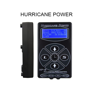 Hot Selling Black HP-2 Hurricane Tattoo Power Supply Digital Dual LCD Display Machines For