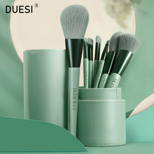цена на DUESI 8pcs/Barrel Foundation Makeup Brush Set Eyeshadow Eyebrow Highlighter Blush Lip Beauty Cosmetics Make Up Brushes Tools