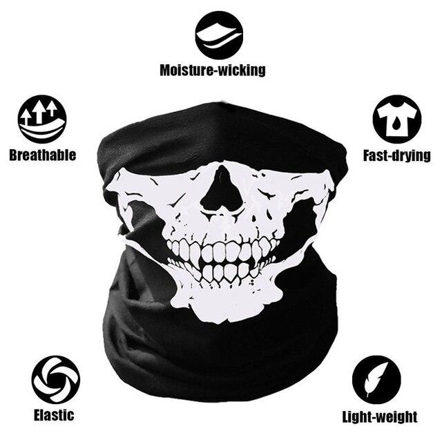 Biker Skeleton Ghost Skull Face Mask Mouth Mask Balaclava Costume Anti Dust Windproof Flu Mouth-muffle Bacteria 1