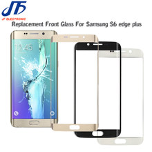 10 stks/partij Outer Glas voor Samsung Galaxy S6 rand plus G925 G928 LCD Touch Screen Voor Glas Outer Lens(China)
