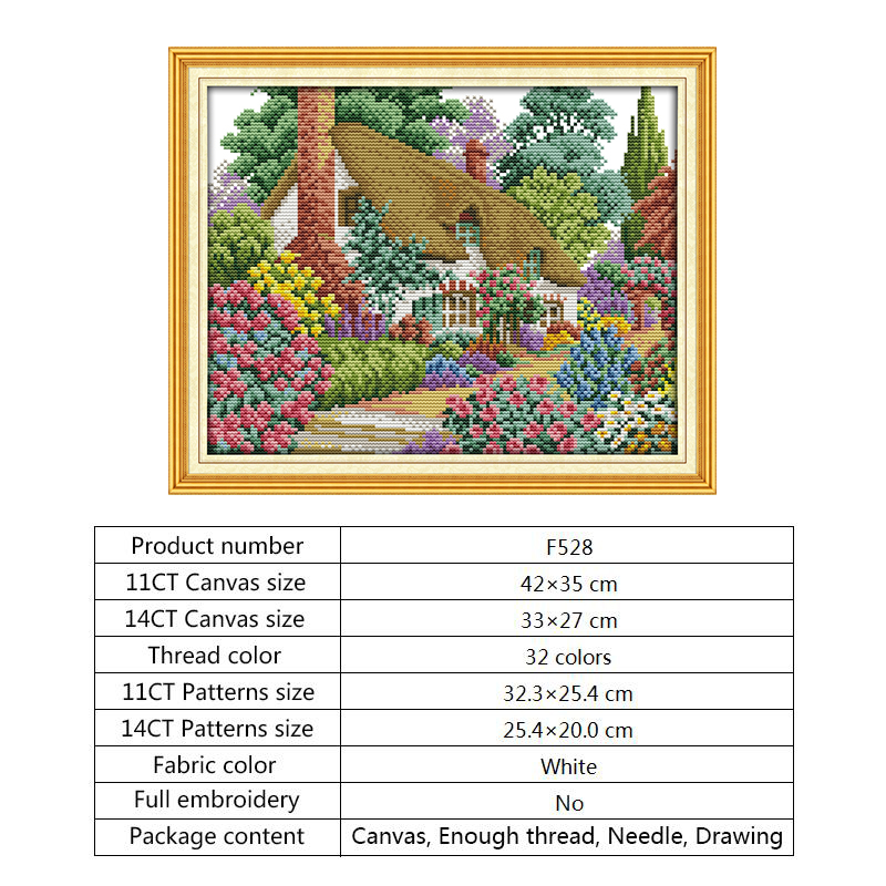 Joy Sunday Counted Cross Stitch Fabric for Embroidery 14ct 11ct Printed Canvas Water-soluble DMC DIY Hand Crafts for Needlework (1)
