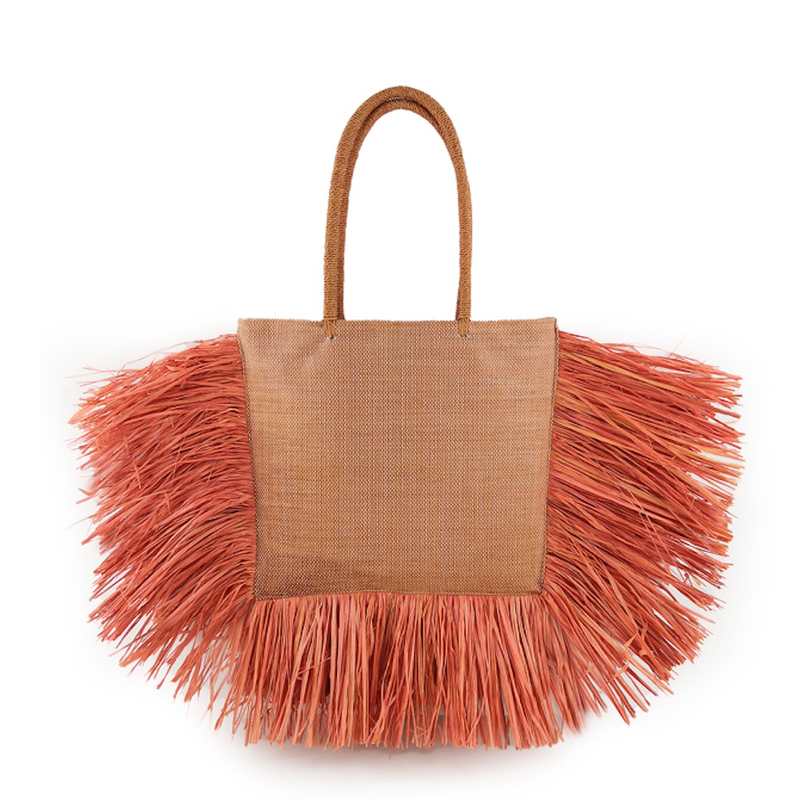 Bohemian Tassel Raffia Large Capacity Tote Bags For Women Woven Straw Shoulder Bag Luxury Wicker Lady Hand Bags Summer Beach Bag