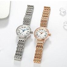 Lady vrouwen Horloge Japan Quartz Crystal Klok Mode Fancy Dress Armband Luxe Party Meisje Verjaardagscadeau Royal Crown
