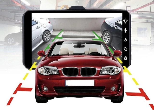 "jltart Dash cam Dual Lens car DVR Full HD 1080P4""Touch Screen IPS With Backup Rear Camera Registrator Night Vision Video Recorde 5"