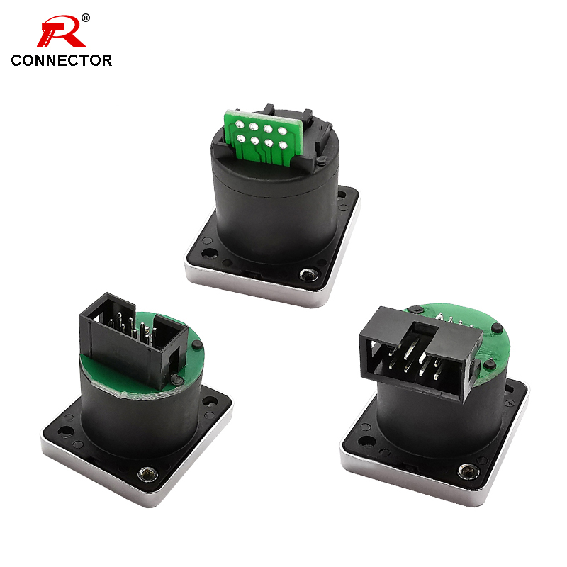 8pcs 8p8c RJ45 With PCB Board Connector, RJ45 Waterproof Adapter, IP65, Female Panel Mount Sockets RJ45 Ethernet Connector