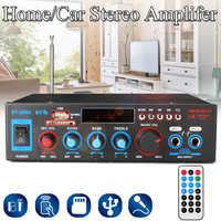 HIFI 2CH 800W Audio Power Verstärker 12/220V Heimkino Verstärker Audio mit Fernbedienung Unterstützung FM USB SD Karte bluetooth