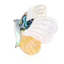 European and American exquisite insect brooch fashion creative butterfly lady shell cross-border e-commerce wholesale