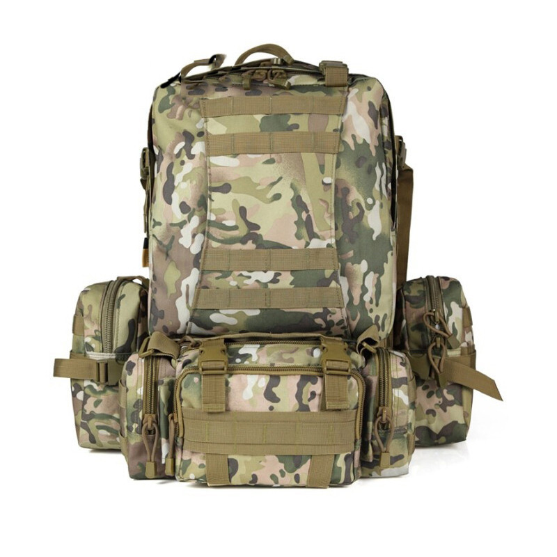 Tactical military Fighter Backpack Bags 50l mountain outdoor Water -proofing Knapsack Molle