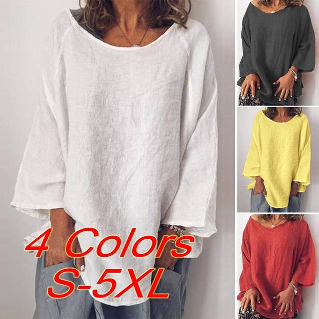 Long Sleeve Solid Blouse 5