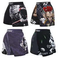 MMA Shorts Kids Muay Thai Rashguard Shark Boxing Trunks Child Kickboxing Fight Grappling Shorts Animal Printed Fight Sprot Pants