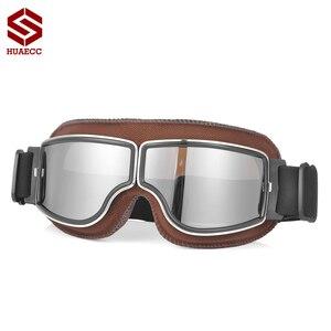 Image 1 - Motocross Goggles Vintage Pilot Roller Helm Brillen Outdoor Steampunk Motorrad Brille für Motorrad Dirt Bike