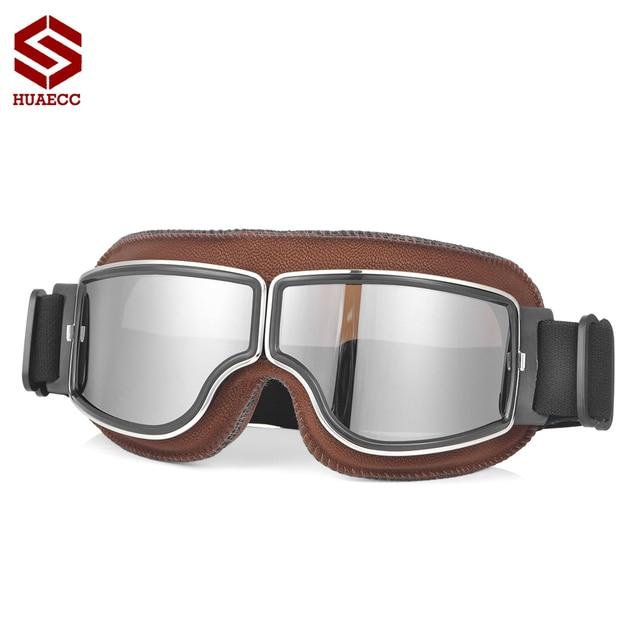Motocross Goggles Vintage Pilot Roller Helm Brillen Outdoor Steampunk Motorrad Brille für Motorrad Dirt Bike