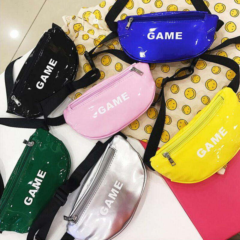 Toddler Baby Girls Boys Kids Fashion Casual Waterproof PU Leather Waist Bag Sports Pouch Belt Hip Chest Outdoor Dairy Bags
