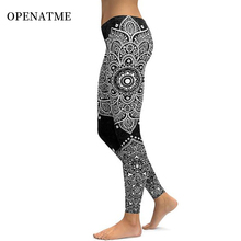 OPENATME High Waist Floral Print Multicolor Leggings Sport Woman Fitness Stretch Running Yoga Pants body