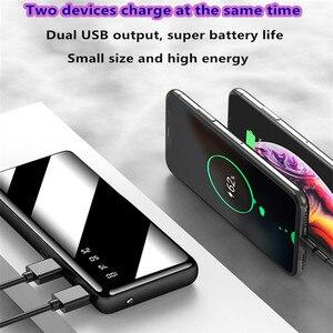 Image 5 - 10000 ポータブルミニ電源銀行高速充電ミラースクリーンデジタル表示 powerbank 懐中電灯照明スマートモービル電話