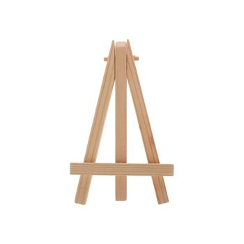Natural Wood Mini Easel Frame Tripod Display Meeting Wedding Table Number Name Card Stand Display Holder Children Painting Craft image
