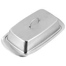 Caja de mantenimiento fresco multiusos, almacenamiento seguro para platos de mantequilla (plata), 1 unidad