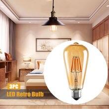 Edison bombilla de filamento Led lámpara Retro antigüedad Vintage Edison Bombillas ampolla reemplazar la luz incandescente de 4w 2300k E27 3 Pack # T2G