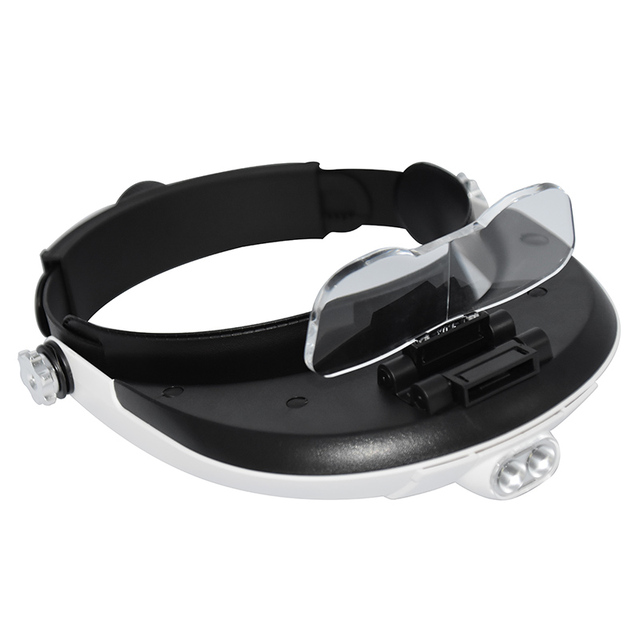 Headband Magnifying Glass With Led Lamp Magnifier For Beekeeping Equipment 1.0-6.0X Multiple Magnification Mirror With 5 Lens 4