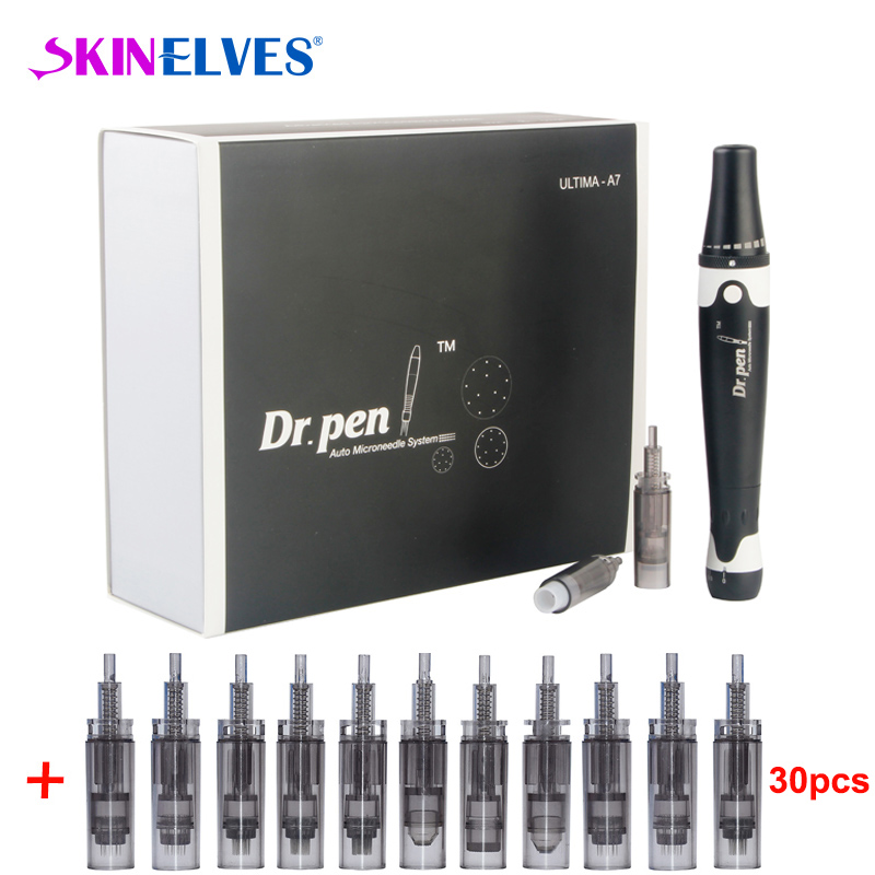 Electric Dr.Pen Ultima A7 Professional Auto Microneedle Pen Derma Pen Microneedle Therapy System Beauty Machine Rolling Tool
