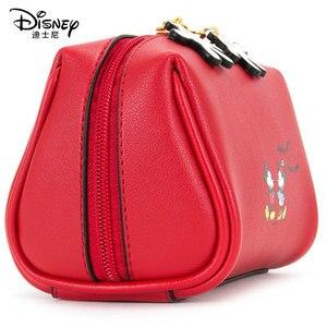 Image 4 - Disney Kosmetische Tasche Nette Mickey Multi funktion Frauen Handtasche Make Up Wasserdichte Reise Kosmetik Tasche Frauen Leder Handtaschen