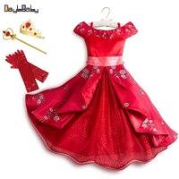 Платье Elena Adventure классический костюм Elena Of Avalor весенне-осенние платья для девочек платья с одним плечом платье принцессы для девочек