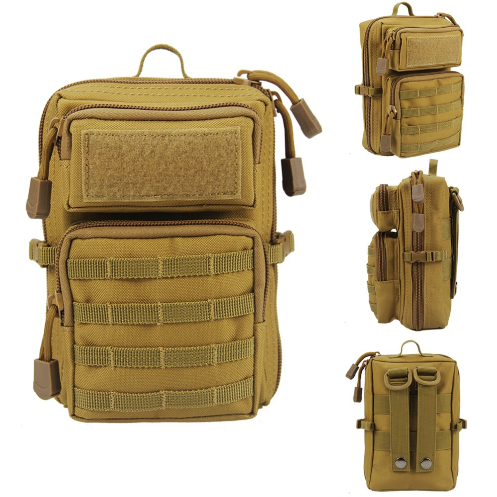1000D Nylon Outdoor Sports Pockets Molle Pouch Tactical Bags With Belt Hunting Pouch Mobile Phone Pouches Waist Pack