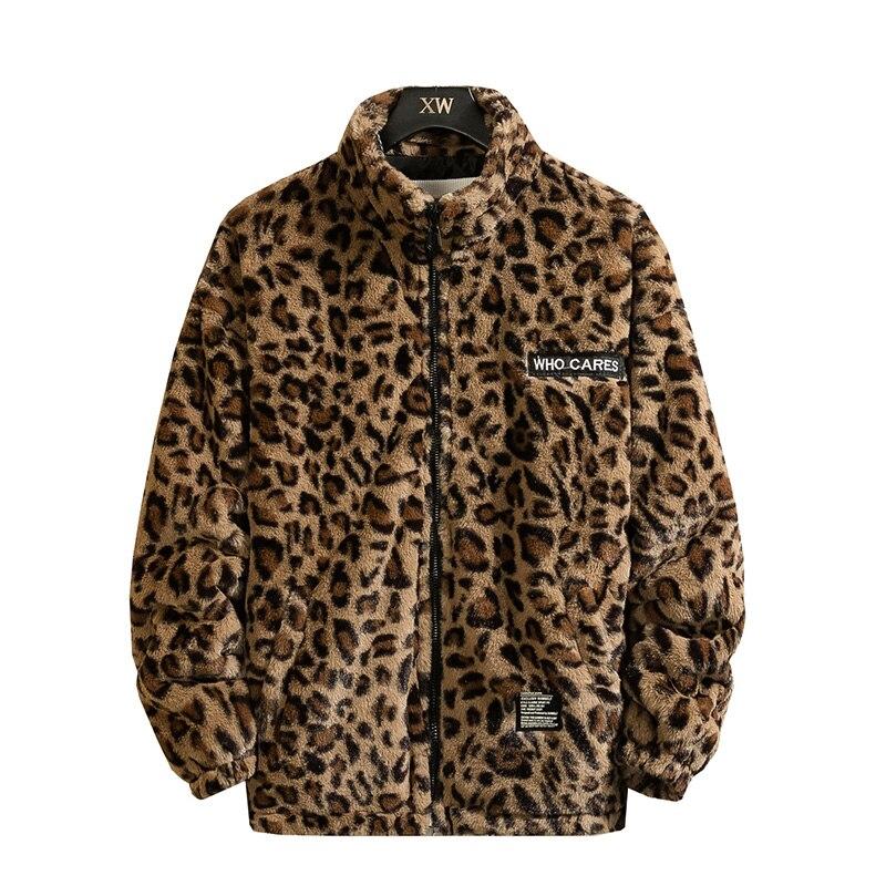 New Warm Love Winter Jacket Men Coat Woman Faux Fur Leopard Casual Slim Parka Men's Winter Coat
