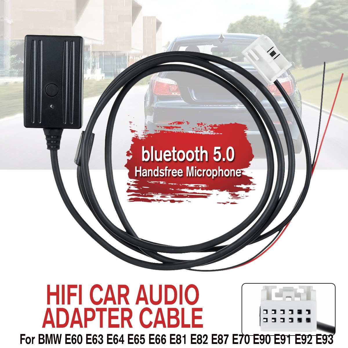 Авто Аудио Автомобильный bluetooth 5,0 Aux USB громкой связи микрофонный кабель адаптер Музыка + микрофон + Поддержка изменение песни для BMW E60 E63 E64