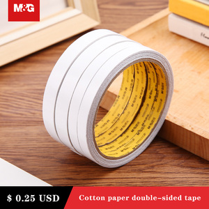 Image 4 - 8M White Super Strong Double Sided Adhesive Tape Paper Strong Ultra thin High adhesive Cotton Double sided diy handmade office