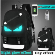 Cartoon Backpack Boys School Backpack Student Luminous Animation USB Charge