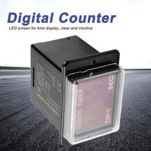 T3D-C Digital LED Time Relay 99.9/999 SEC MIN HR Counter Power on and off cycle delay time relay