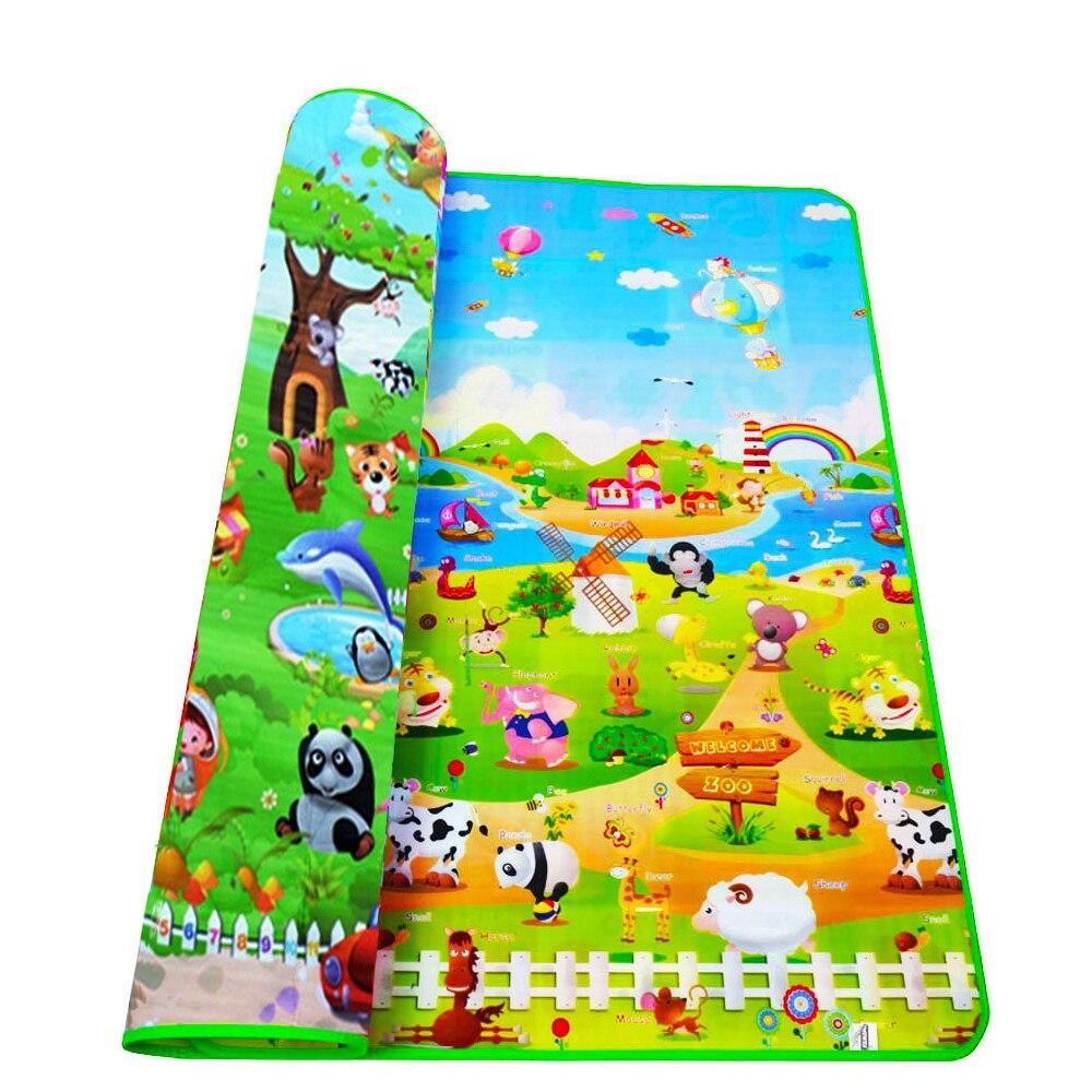 Baby Play Mat Kids Children Playmat Carpet Thick Eco-friendly EPE 200*180*0.5CM Cartoon Puzzle Non-slip Room Floor Rug Mat